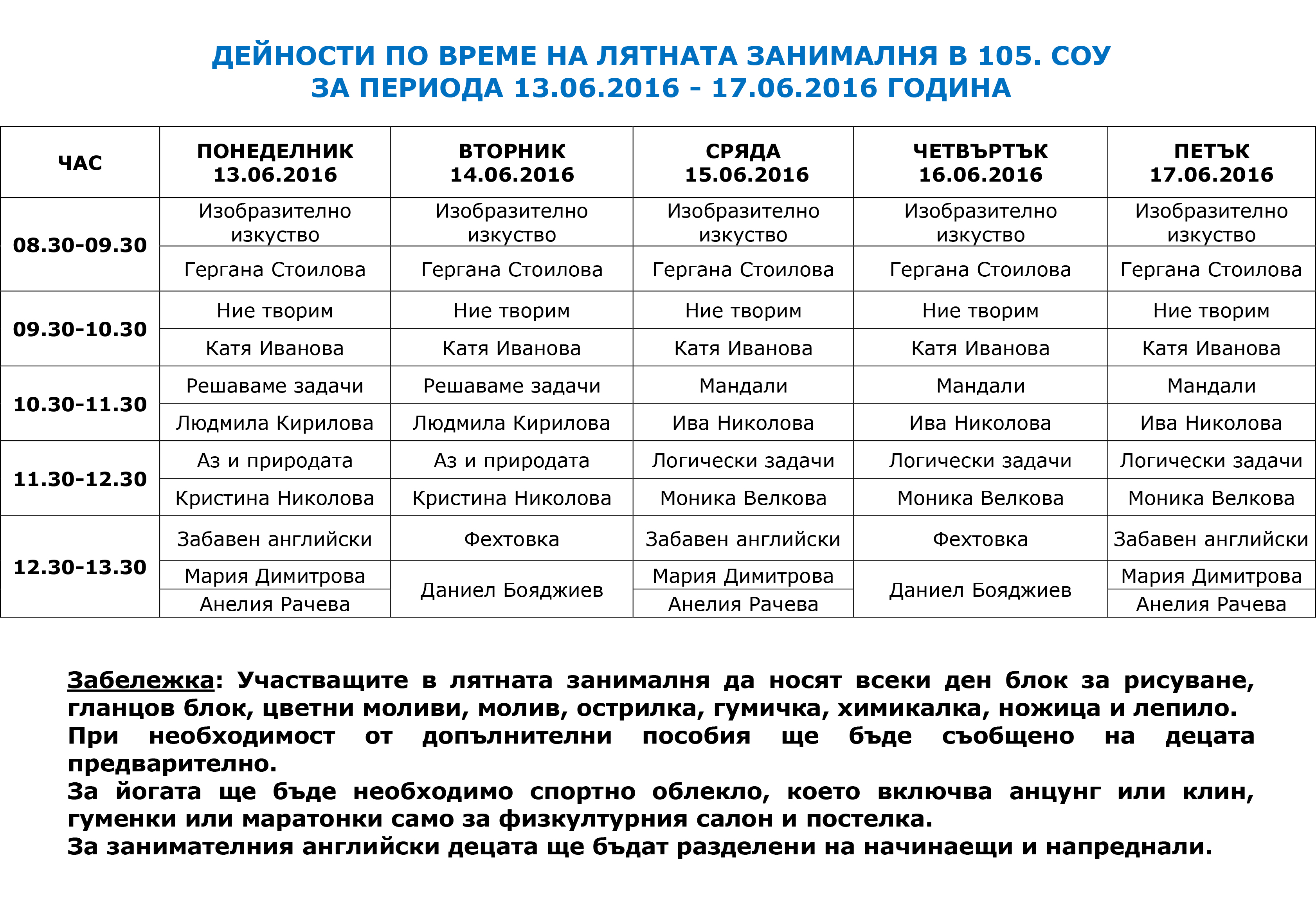 ПРОГРАМА ЗАНИМАЛНЯ 2016-3